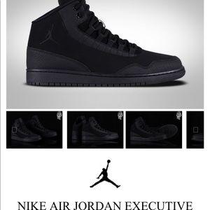 Firmar Humano esponja  Jordan Shoes   Nike Air Jordan Executive Triple Black Shoes   Poshmark